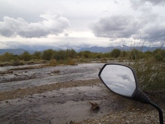 Mongolian river crossing near Russian border.