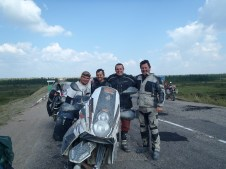 Polish bikers M56 Lena highway.