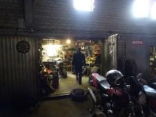 Victor's Garage.