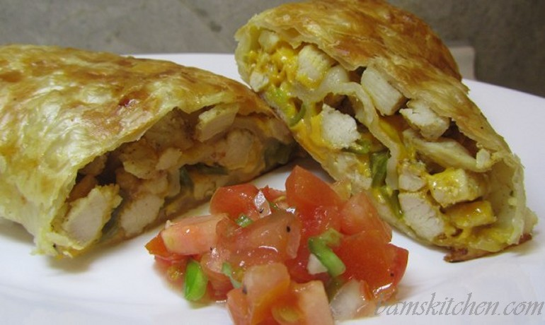 The texan style egg roll