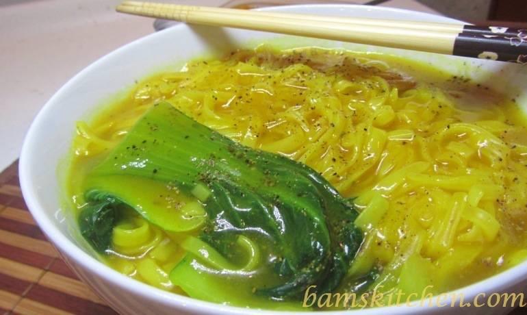 Golden Spiced Noodle soup