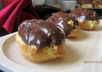 Chocolate French Eclairs with Cinnamon Custard