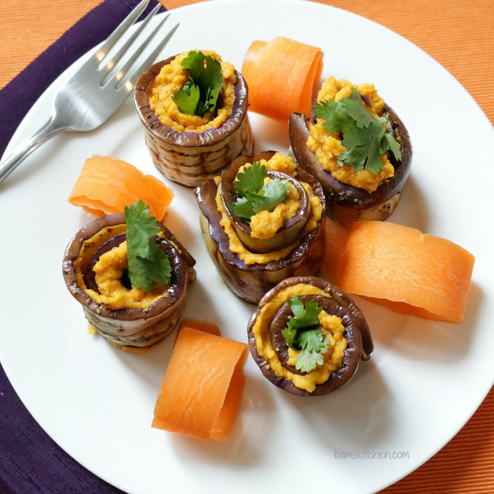 Roasted Carrot Spiced Hummus Rolls-Bam's Kitchen