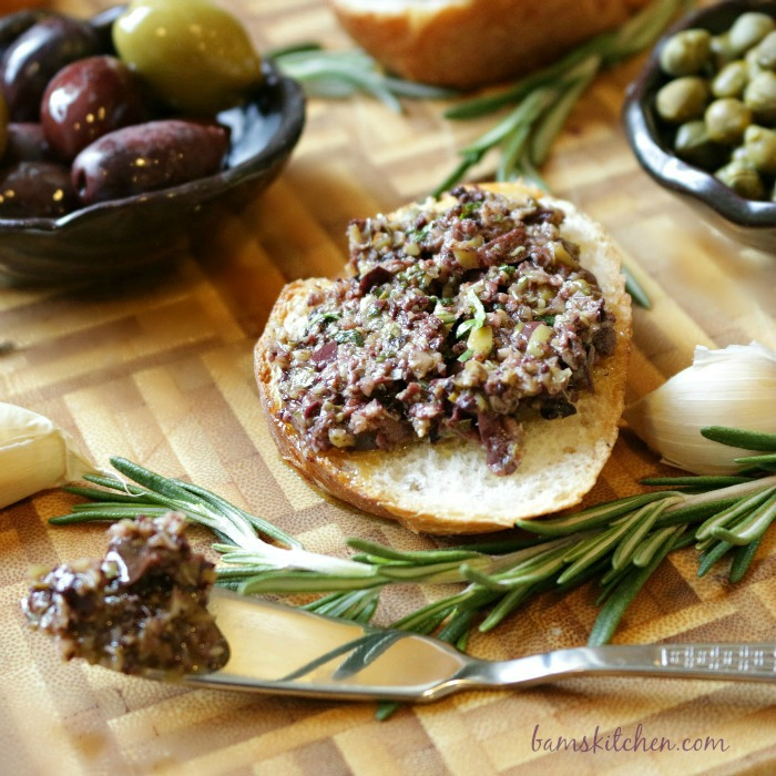 Rosemary Olive Tapenade- Bam's Kitchen