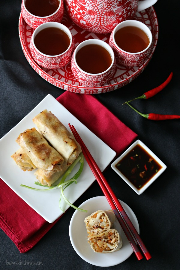 Baked Chinese Spring Rolls-Bam's Kitchen
