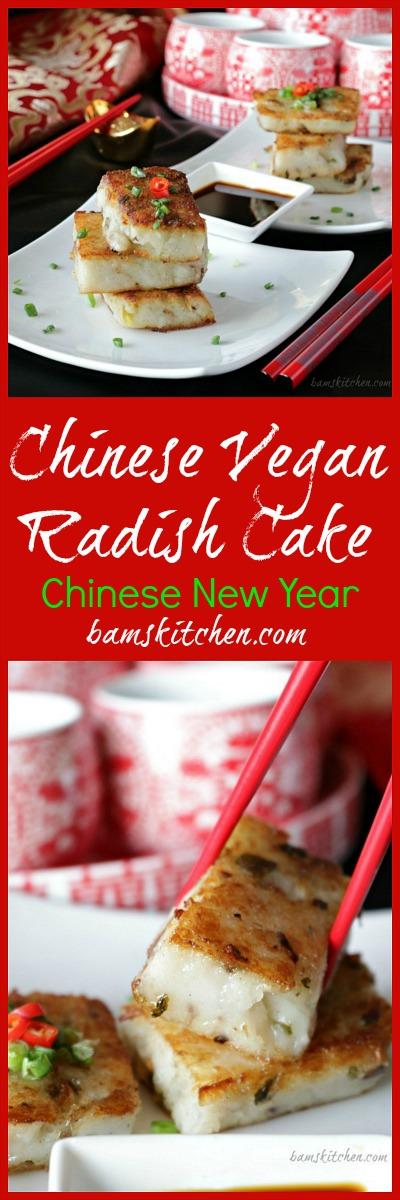 Chinese Vegan Radish Cake / http://bamskitchen.com