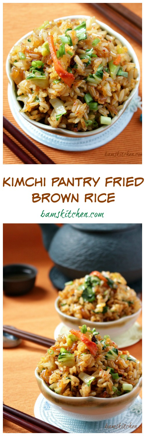 Kimichi Pantry Fried Brown Rice / http://bamskitchen.com