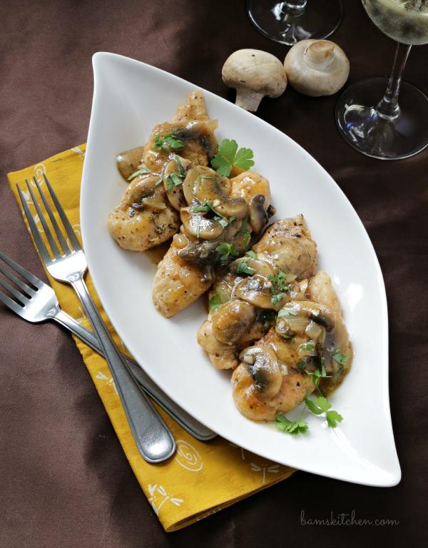Bam's Kitchen - Mushroom Chicken with Brandy Sauce - Bam's Kitchen
