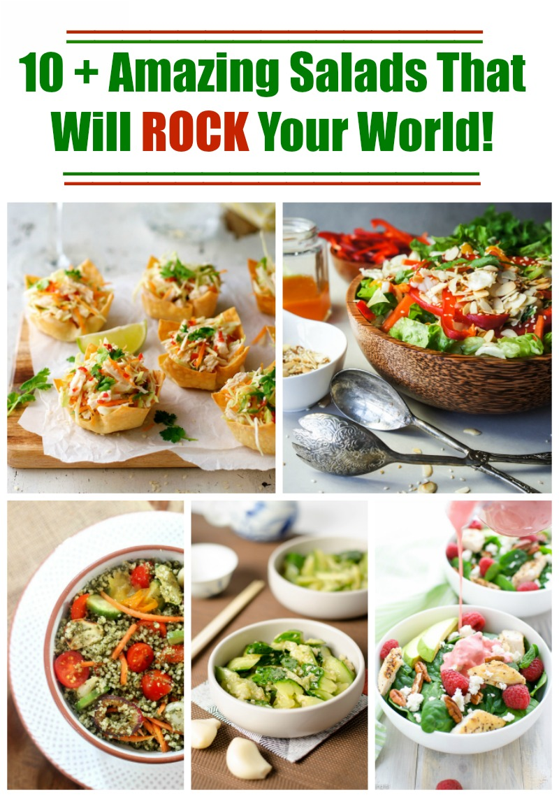 10 Plus Amazing Salads That will Rock Your World / http://bamskitchen.com