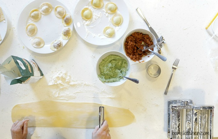 3 Cheese Ravioli with Sage Butter Sauce / http://bamskitchen.com