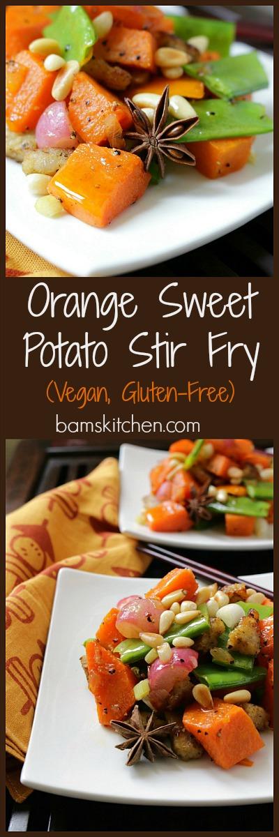 Orange Sweet Potato Stir Fry / http://bamskitchen.com