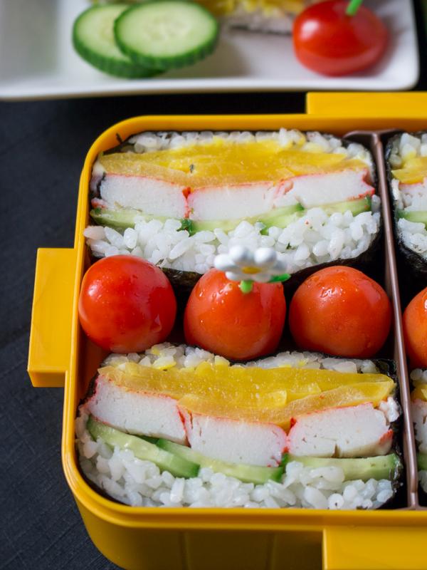 Wasabi Mayo Crab Onigirazu / http://bamskitchen.com