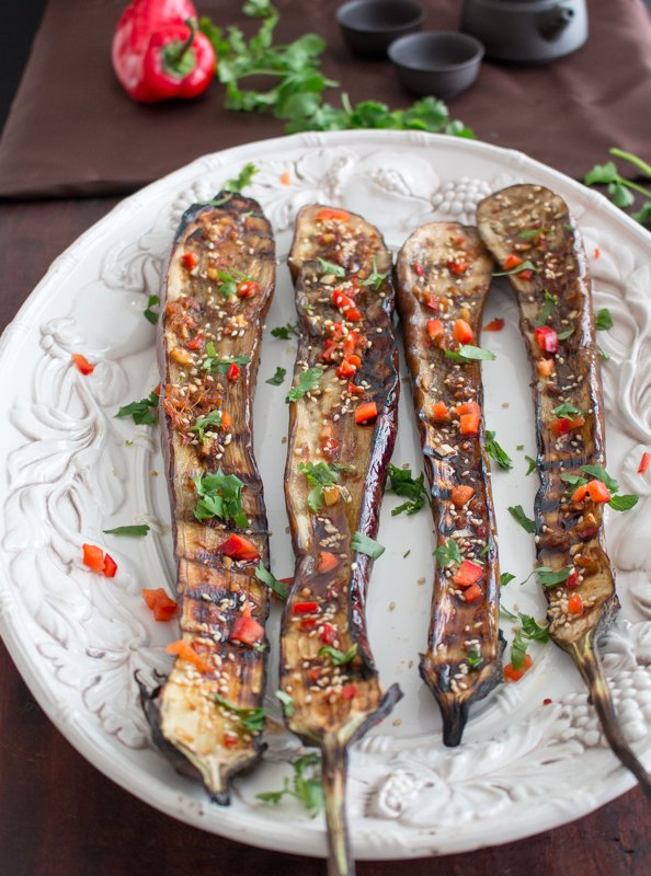 Super Easy Grilled Asian Eggplant / http://bamskitchen.com