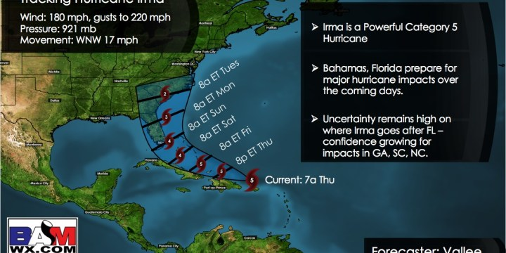 Thursday Ag Update: The latest of Irma and when the dry times may end. E.
