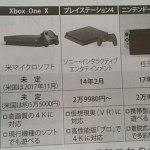 ゲーム機大手の商品比較表