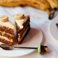 tort de banane caramelizate, cu crema de branza (also in English)