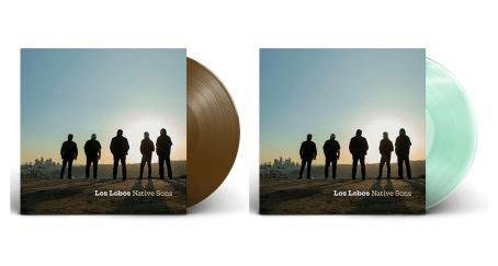 """Vinilos de colección del álbum """"Native Sons"""" A la derecha la edición de Coca Cola y a la derecha la versión marrón."""