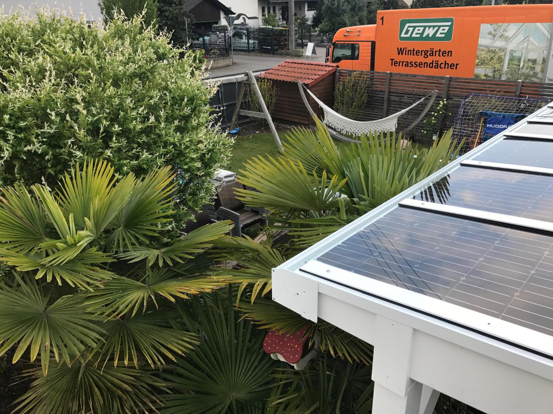 Aufbau Solarterrasse von GEWE