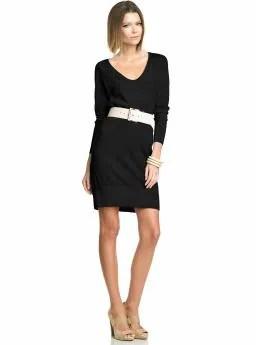Women: Back-zip sweater dress - Black