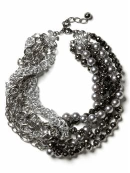 Silent Film Bib Necklace