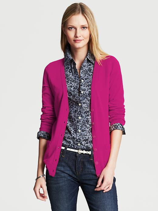 Banana Republic Long Cardigan - Wild orchid