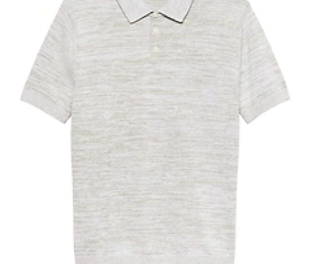 Cotton Linen Two Tone Sweater Polo