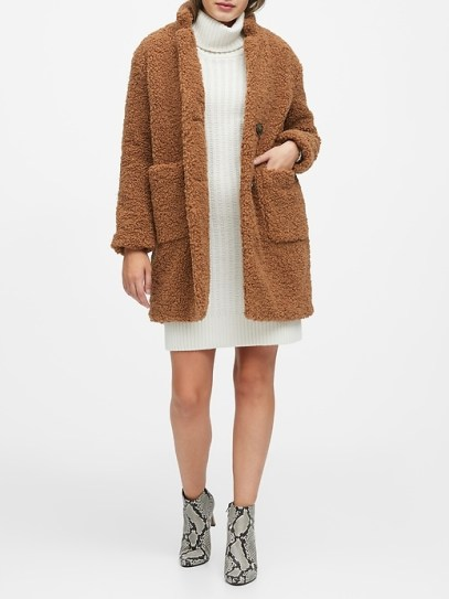 Sherpa Cocoon Coat