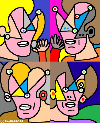 """VIAGGIO AL TERMINE DELLA NOTTE (omaggio a Louis-Ferdinand Céline)"" - (b)ananartista orgasmo Sbuff - digital art"