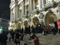 Palais Garnier, more commonly the Paris Opéra, rather crowded that night.