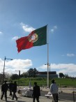 This was one huge flag. I like the Portuguese flag - at least it's not three stripes like many other European flags.