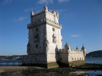 The Belém Tower, situated by the Tagus River.