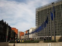 Outside the EU Commission, so proud and majestic.