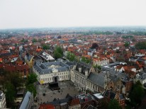 A view of the Burg Square, with the city hall of Bruges.