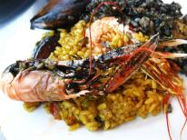 Paella and black rice!