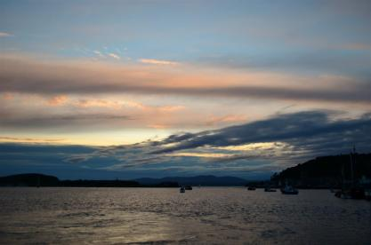 Sunset in Oban - a very late one