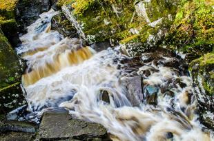Waters of Bracklinn Falls