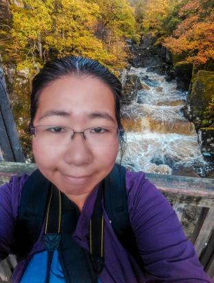 Obligatory selfie with Bracklinn Falls on the bridge!