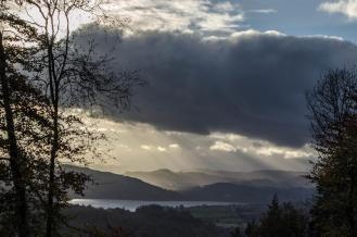 View from the Callander Crags toward Loch Venachar.