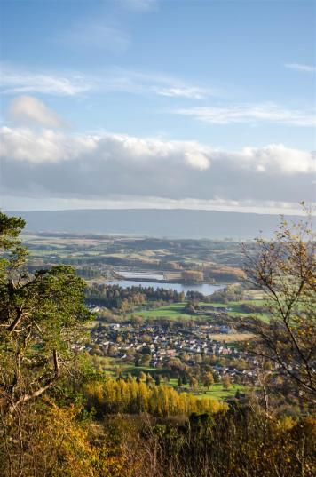 View of Callander from the Crags.
