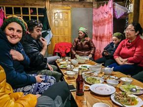 Eating with local Dzay family in Ta Van village