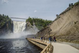 Bottom of Montmorency Falls