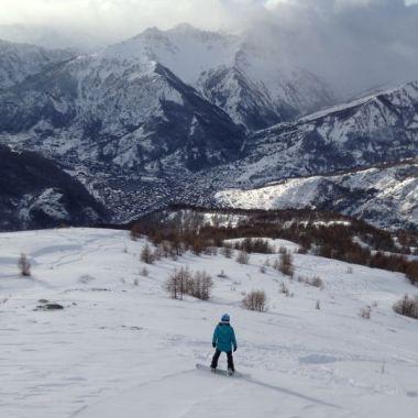 fuoripista in snowboard