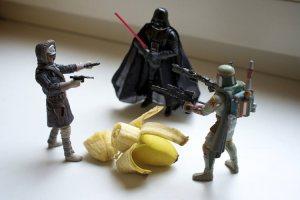 Estrategia de venta de banano con Star Wars