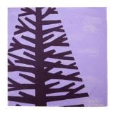 "Purple tree I, 2011, Acrylic on canvas, 9""x9"". Copyright Rebe Banasiak, The Brush Hilt and Banasiak Art Gallery."