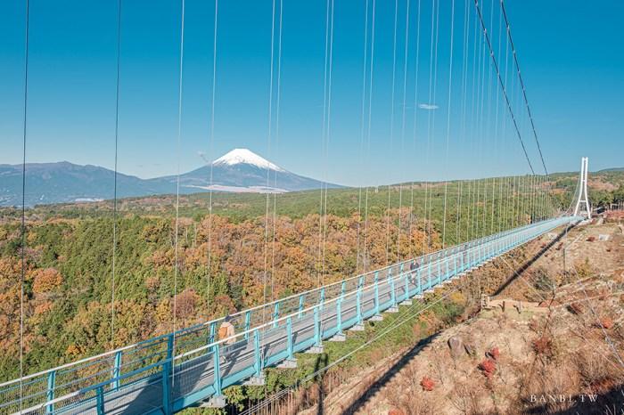 靜岡景點:三島大吊橋SKYWALK,看富士山美景的日本最長吊橋、戶外設施、美食餐廳