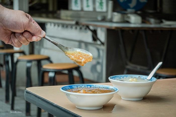台北小吃-萬華阿猜嬤甜湯:55年老店懷念的古早味米糕粥、泡餅花生湯、冰糖銀耳和湯圓