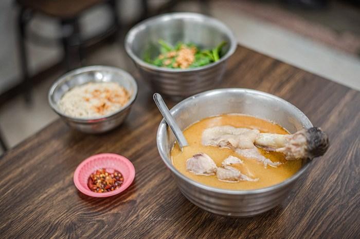 台北阿男麻油雞:可以喝完的金黃好喝麻油湯,南機場夜市的米其林美食