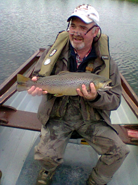 BAC Geoff Hylands Brown Trout 4lbs caught at Corbet Lough on 1 September 2014