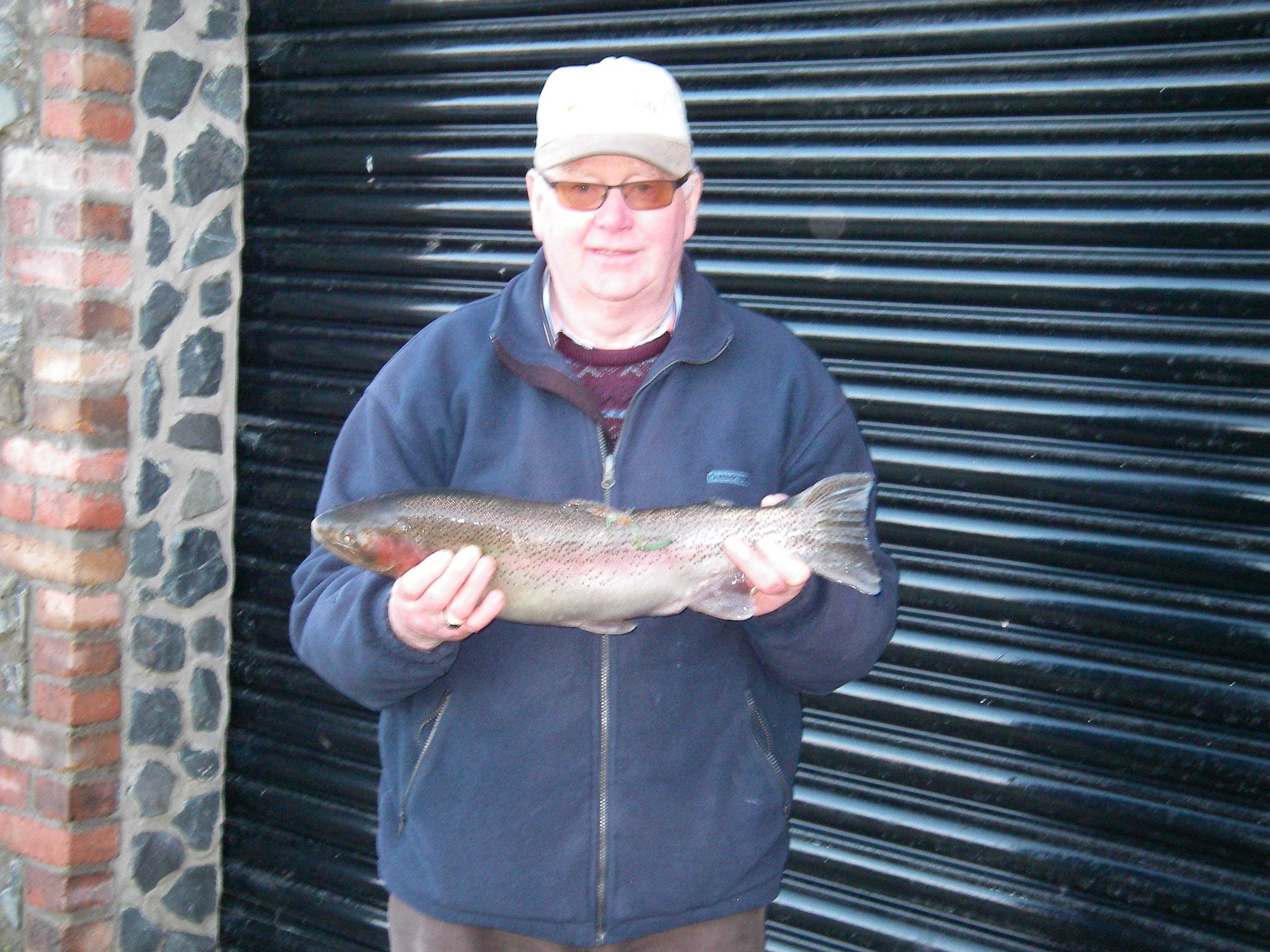BAC Henry McKnight with a 4lbs 9ozs Rainbow Trout taken on the fly at Corbet Lough on 4 March 2017