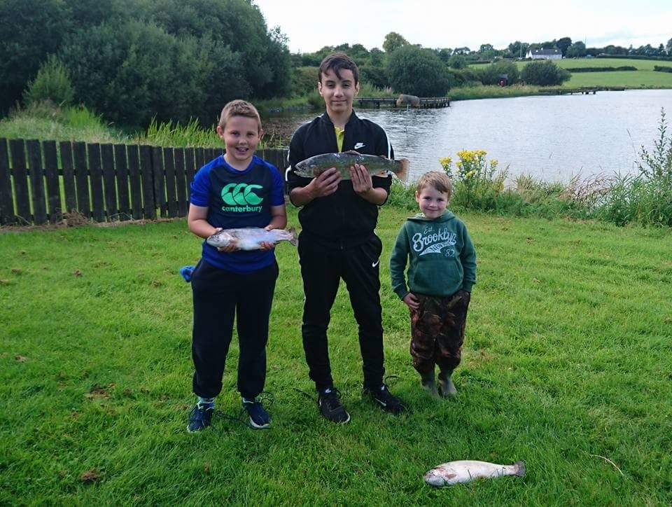 BAC Junior Anglers at the Dr Cocks Shield competition at the Corbet Lough on Saturday 5 August 2017